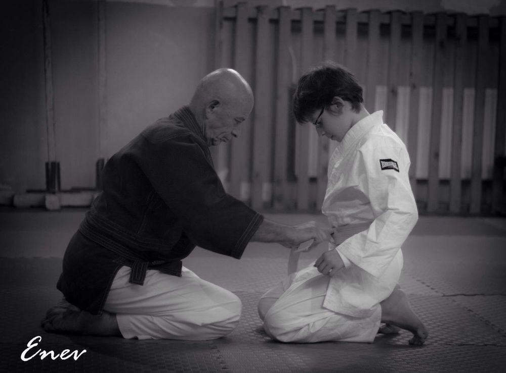 Aïkido Aikidolifestyle The Master Boy Detail Sensei Silence Black And White