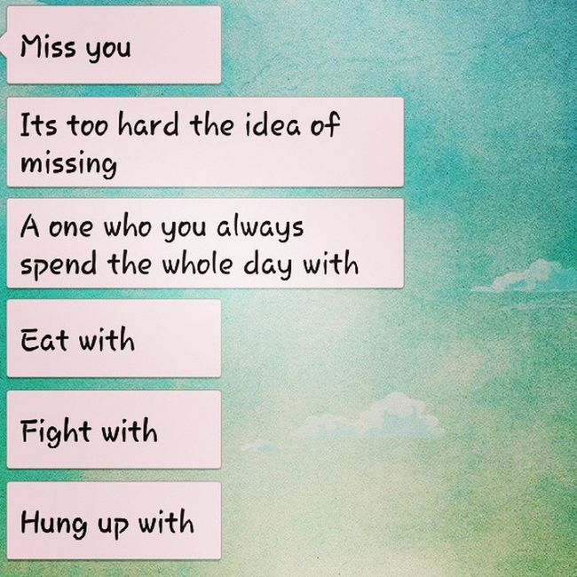 Miss )): Missing )): Fight HungUp Eat )):