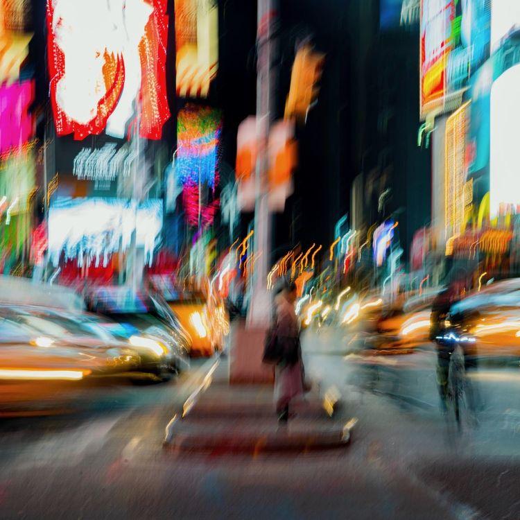 Blur Motion Blurred Motion City City Street Illuminated Motion Movement Movement Blur Movement Photography Multi Colored Neon Night Street Traffic Travel Destinations