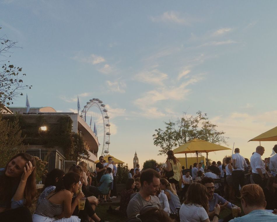 Summer in the city Summer London Summer Nights Southbank Hello World Pimmsoclock Old Friends London Eye Landmarks Skyline Roof Garden