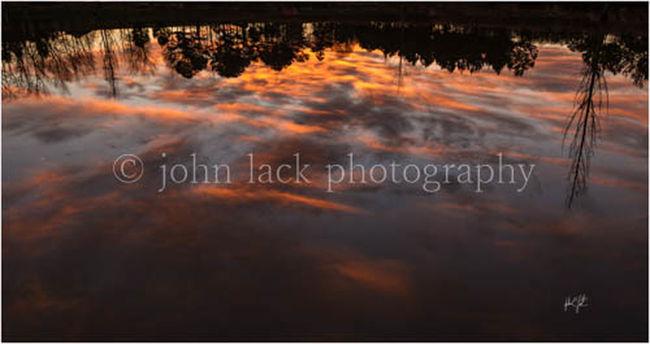 Sunset North Carolina reflection, Johnlack Photography