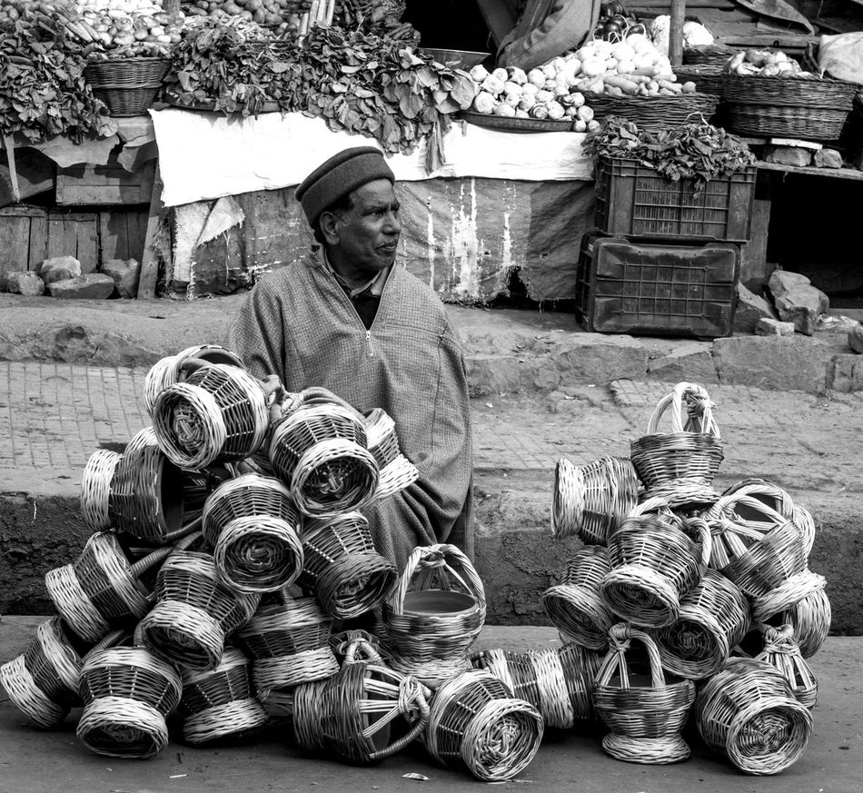 After long Four Months Kashmir heading Towards Normalcy Again Adult Chilling Day Harsh Winters Kangri Kashmir, India Males  Men One Man Only One Person Only Men Outdoors People Sitting Social Issues Black And White
