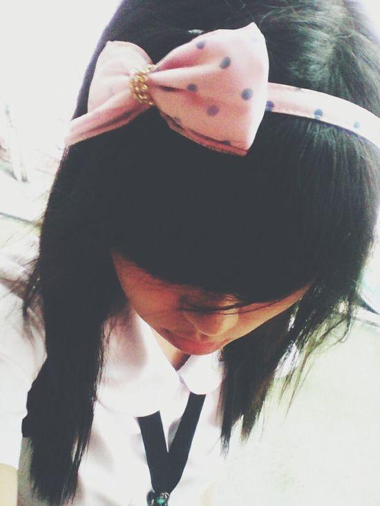 im not emo I just love my headband :-) Selfie Steph Photograpy