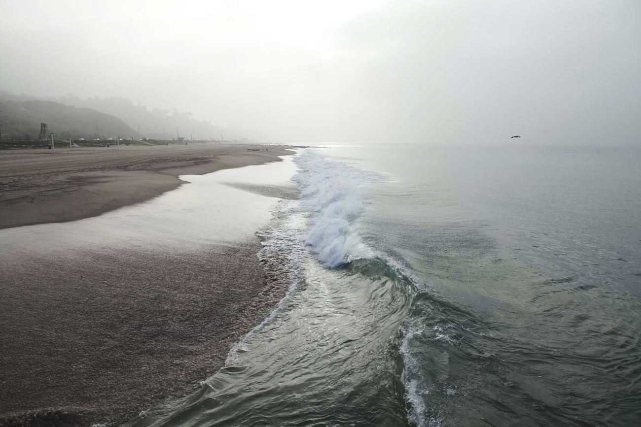 Winter Beach Foggy Morning Beautiful Water California Edge Of The World