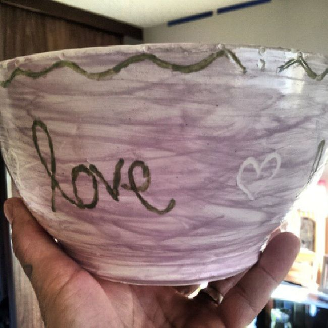 This is the other bowl Heidi made for her Yiayia (greek for grandma) Marilyn... Proudpapa ...