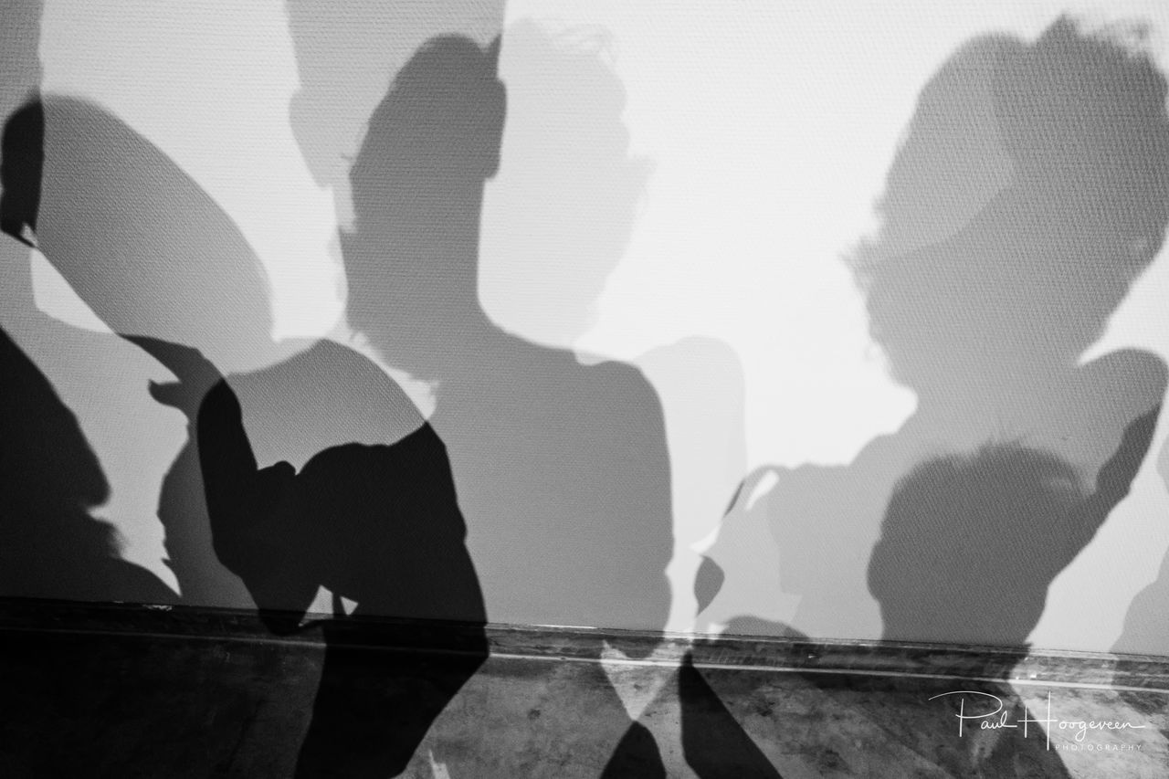 Shadow play @ Fotomuseum Rotterdam B&w Blackandwhite Bw Close-up Day Men Monochrome Monochrome Photography People Real People Shadow Squareformat Standing Togetherness Two People Women