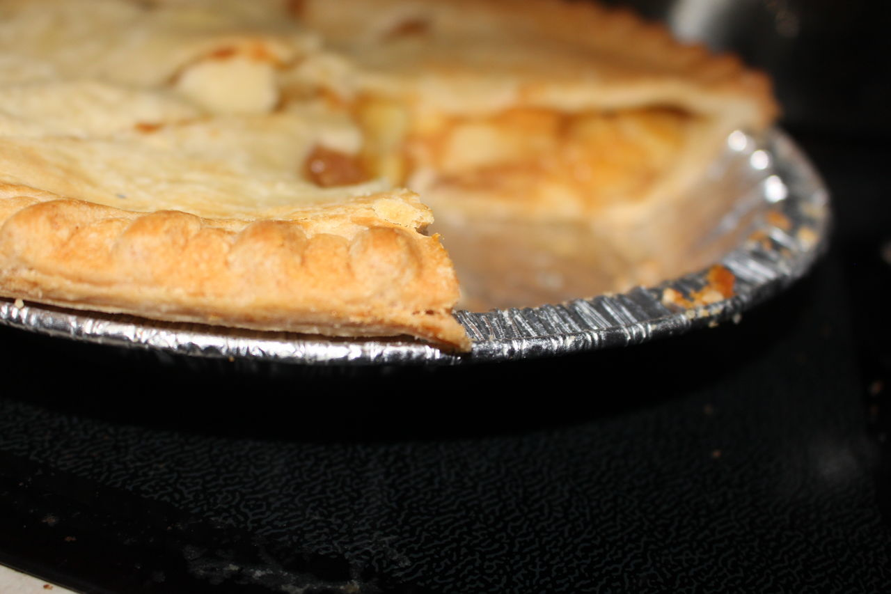Apple Pies Christmas Time! Close-up Focus On Foreground Food One Piece Missing Ready-to-eat Temptation