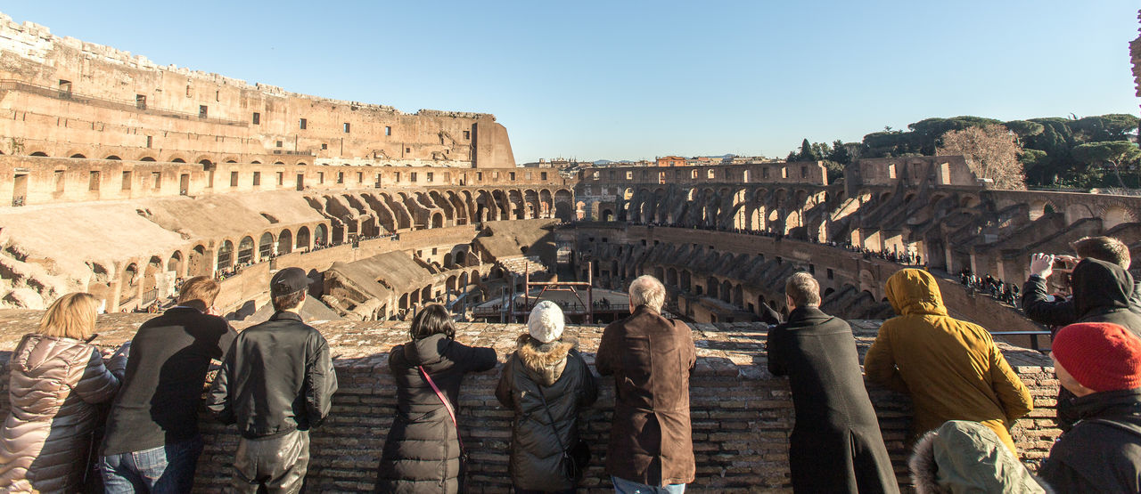 Ancient Ancient Civilization Colosseum Day History Old Ruin Outdoors People People And Places People Watching Roman Rome Rome Italy Sky Travel Travel Destinations Traveling