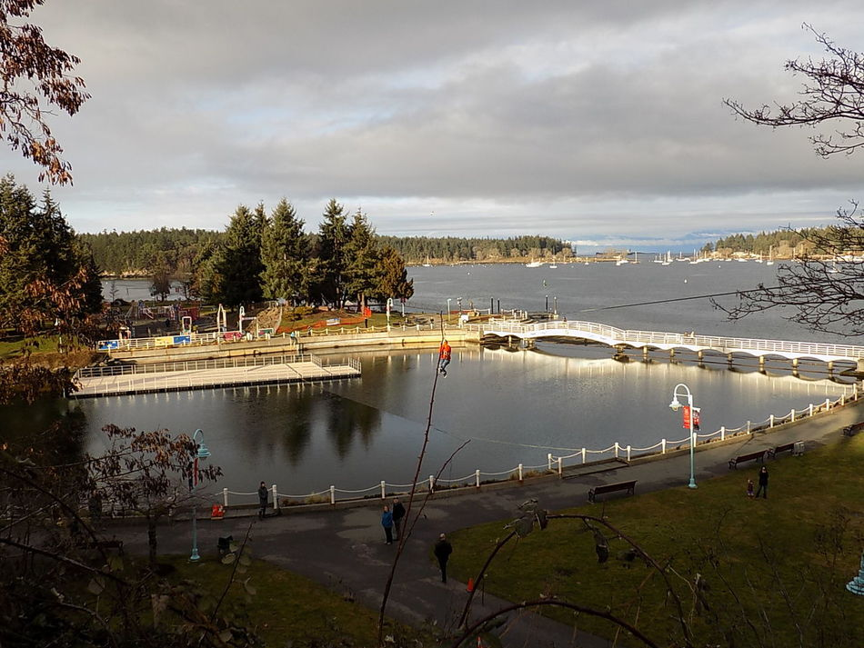 Ziplining over the lagoon. Canada 150 EyeEmNewHere Nanaimo BC Hometown Hockey 2017 Nautical Vessel Day Vancouver Island Canada Outdoor Pictures Outdoor Adventure Photos Fun
