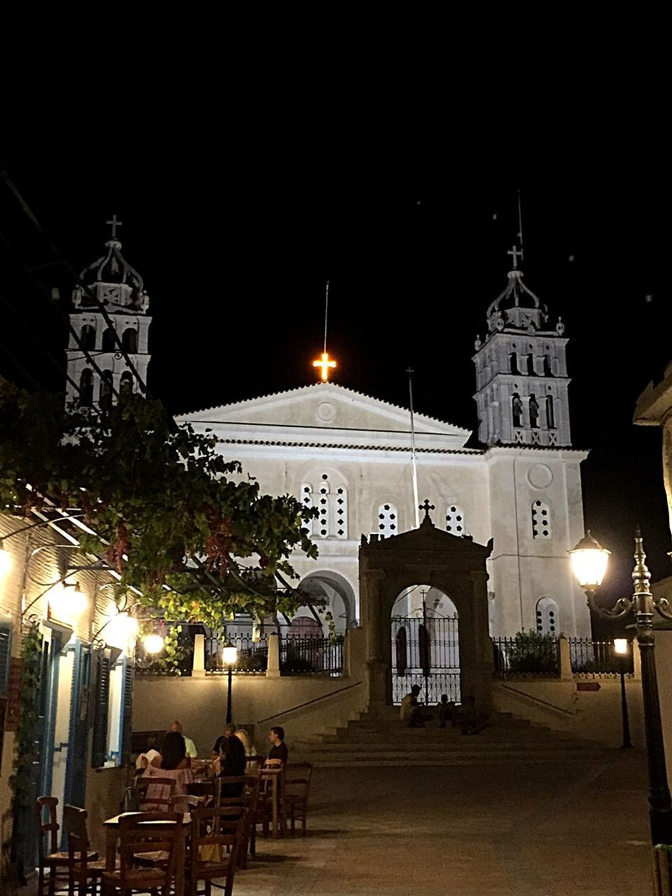 On Holiday in Paros Greece visiting Agia Triada Church in Lefkes