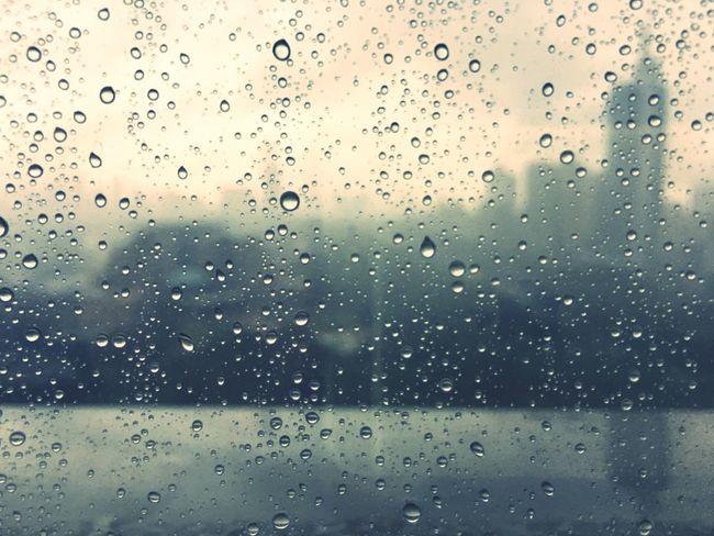 Rain Rainy Days Building Railing Raining Shenzhen