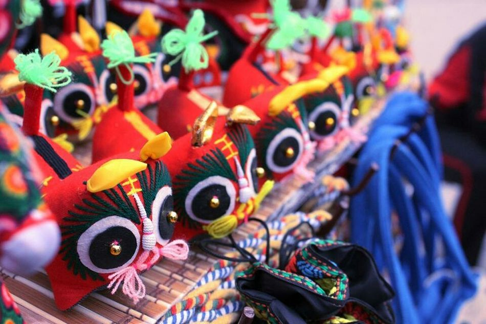China .Xian Red Toy Tiger City View  西安印象