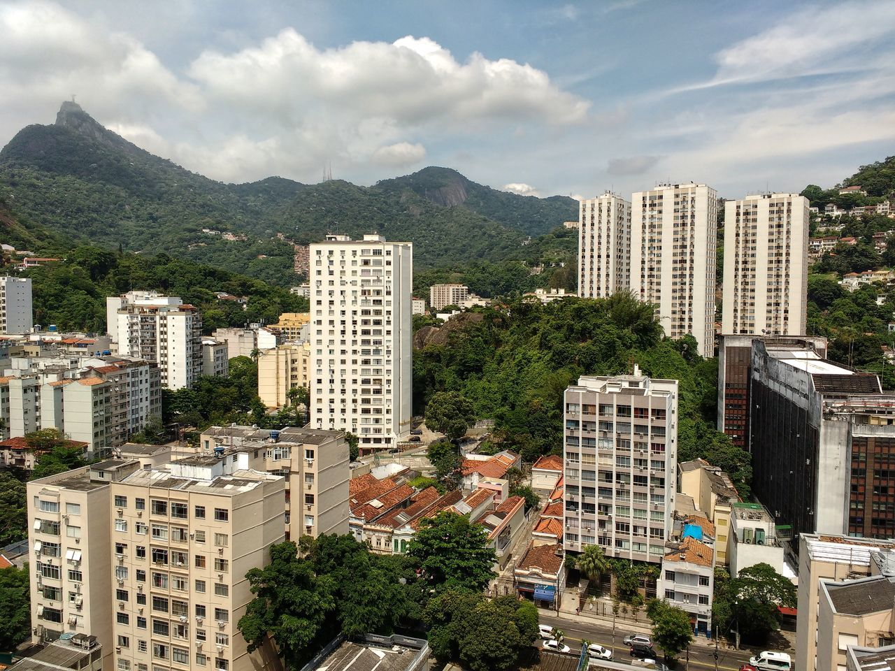 Architecture Cityscape City Skyscraper Building Exterior Urban Skyline No People Mountain Travel Destinations Cloud - Sky Apartment Tree Outdoors Sky Day Corcovado Contrast Panoramic High Definition Mountains Brazilian Tropical Backgrounds Full Frame HDR