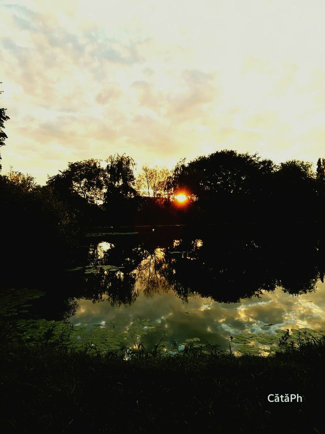 Nature Sunset Beauty In Nature Craiova Romanian Lands First Eyeem Photo Park Lake View