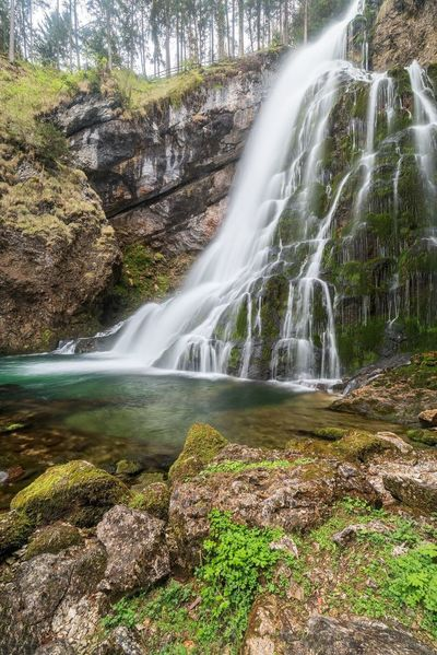 Waterfall Motion Water Scenics Rock - Object Long Exposure Travel Destinations No People Beauty In Nature Outdoors Nature Rapid Day Tree Sky