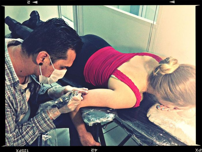 Make a tattoo girlfriend Iraci Rodrigues and Laura lourenço Tattoo Make Studiotattoo Mygirlfriend
