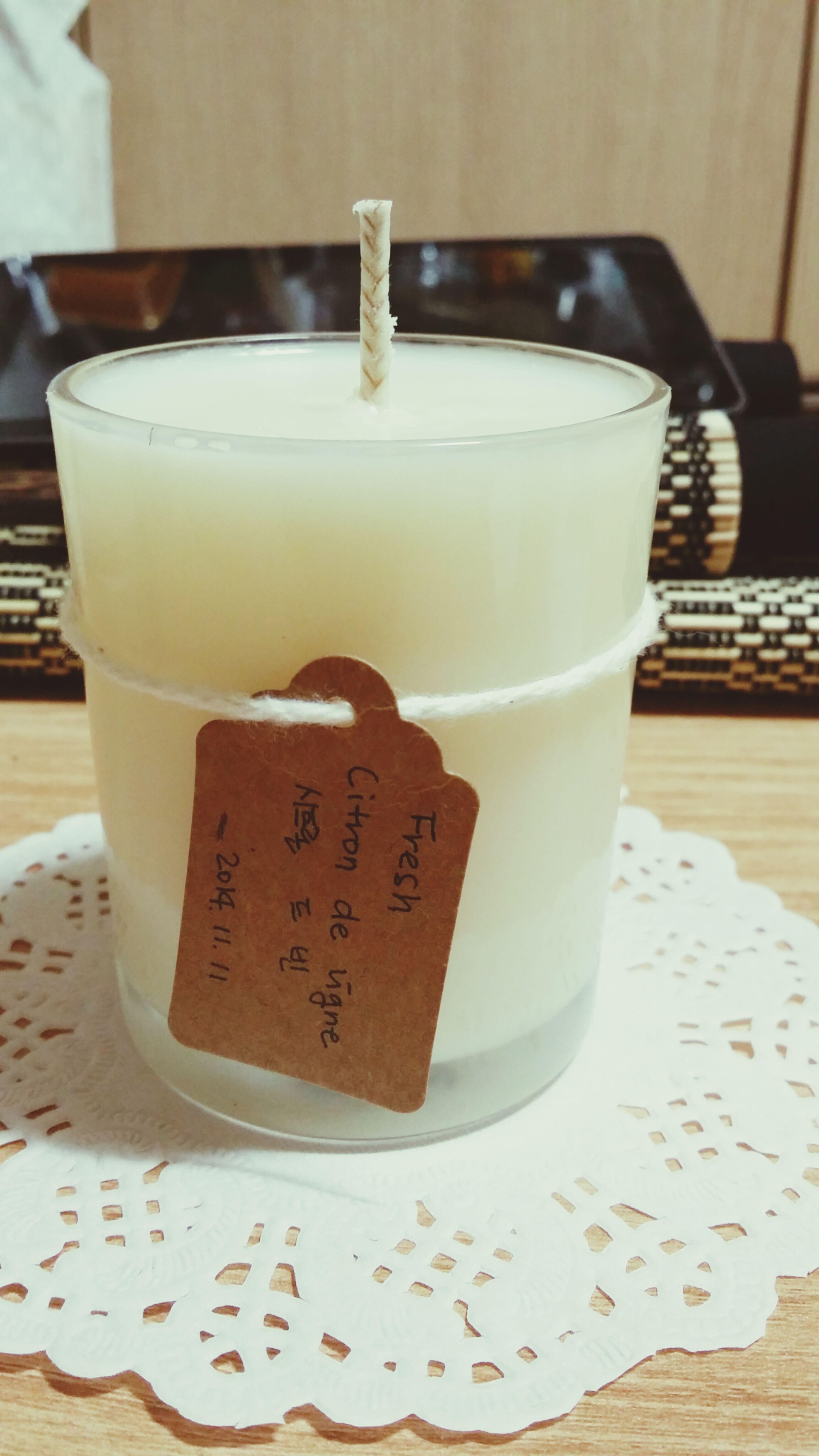 Candles sented candle Citron De Vigne