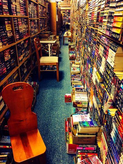 Knowledge is colorful Bookshelf Shelf Indoors  No People