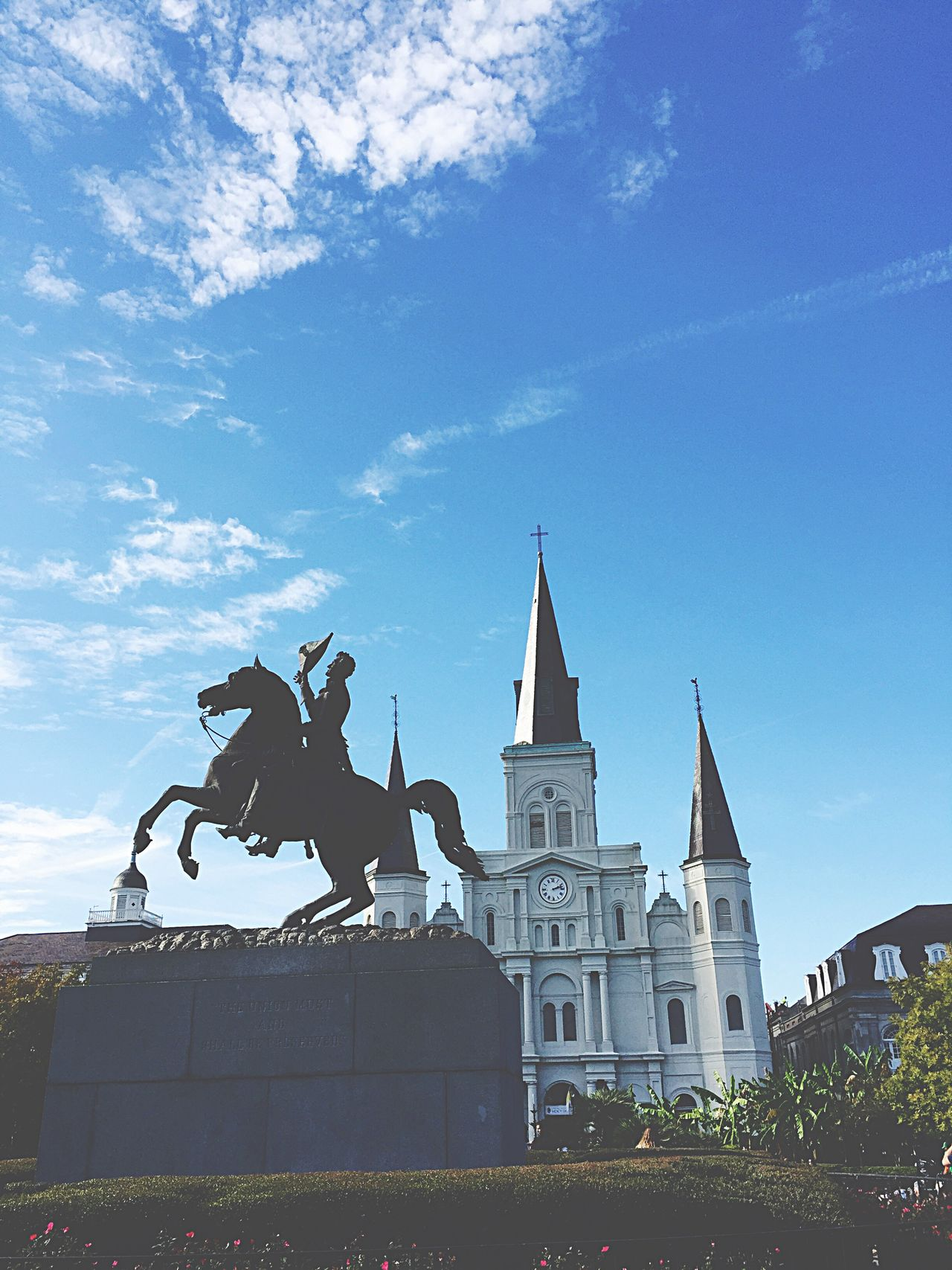 Architecture Building Exterior Built Structure City Statue Travel Destinations Sky Sculpture Outdoors No People Place Of Worship Day Dome New Orleans Life New Orleans EyeEm New Orleans, LA New Orleans Jackson Square City St. Louis Cathedral