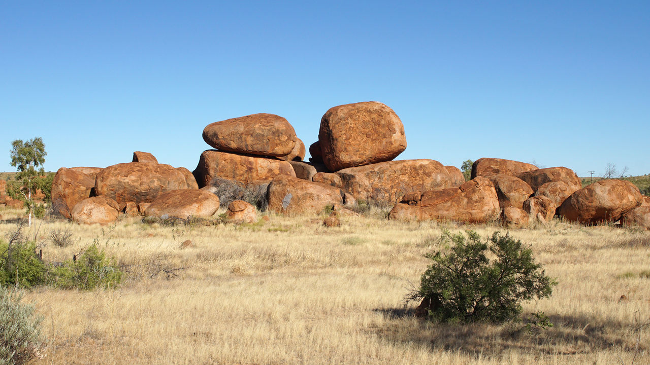 Devils Marbles, Stuart Highway, Northern Territory, Australia Australia Beauty In Nature Devils Marbles Geology Landscape Nature Northern Territory Outback Outdoors Panorama Rock Formation Rocks Scenery Scenics Sights Stuart Highway Tourism Tourism Destination Tourist Destination Travel Travel Destinations Traveling