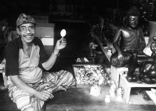 People And Places Blackandwhite Selling On The Street Happy Happy People Egg EyeEm Best Shots EyeEm Ubud Bali INDONESIA