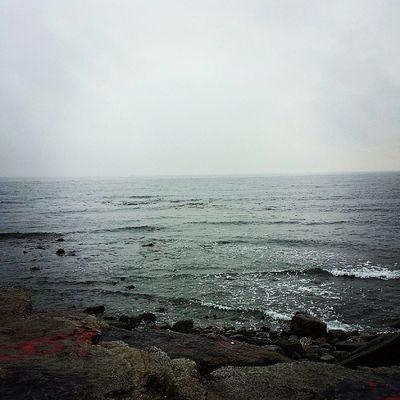 Even in the rain the ocean is wonderful RYE Ignewengland Ocean Happy