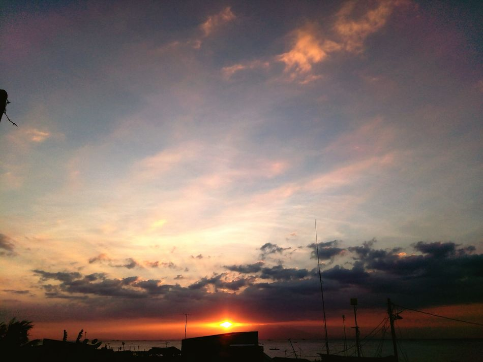 Sunset Cloud - Sky Dramatic Sky Sky Sun Scenics No People Silhouette Nature Landscape Outdoors Tranquility Beauty In Nature Heat - Temperature Water Sea Beauty Horizon Over Water