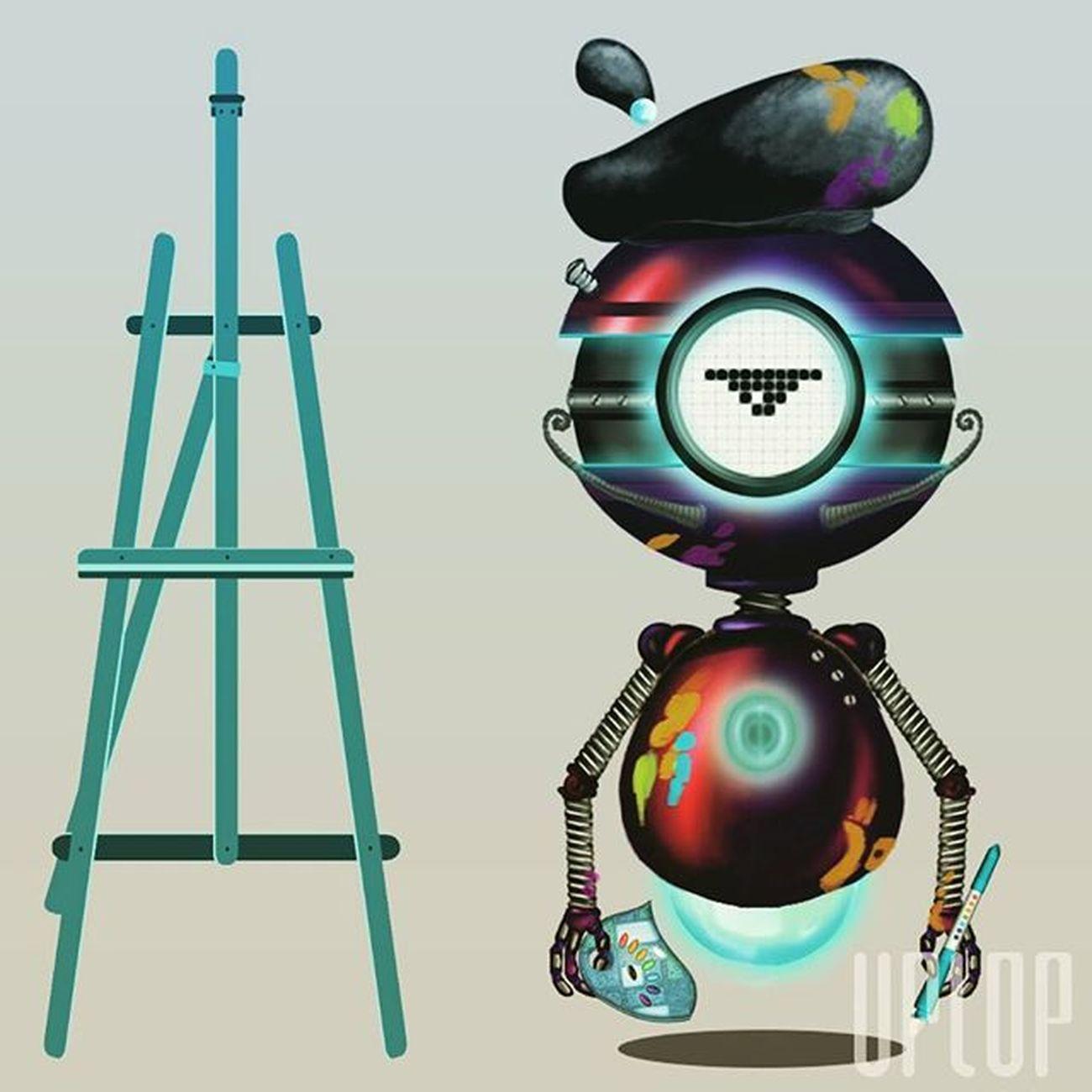 Uno de mis diseños de personajes en el departamento de arte para la serie Tec+, producida por nuestro estudio Uplop Art Animation Studio Illustration Robot Project Technology Tec Sketch 3D 2d Work Photoshop Illustrator IgersVenezuela Igersmerida