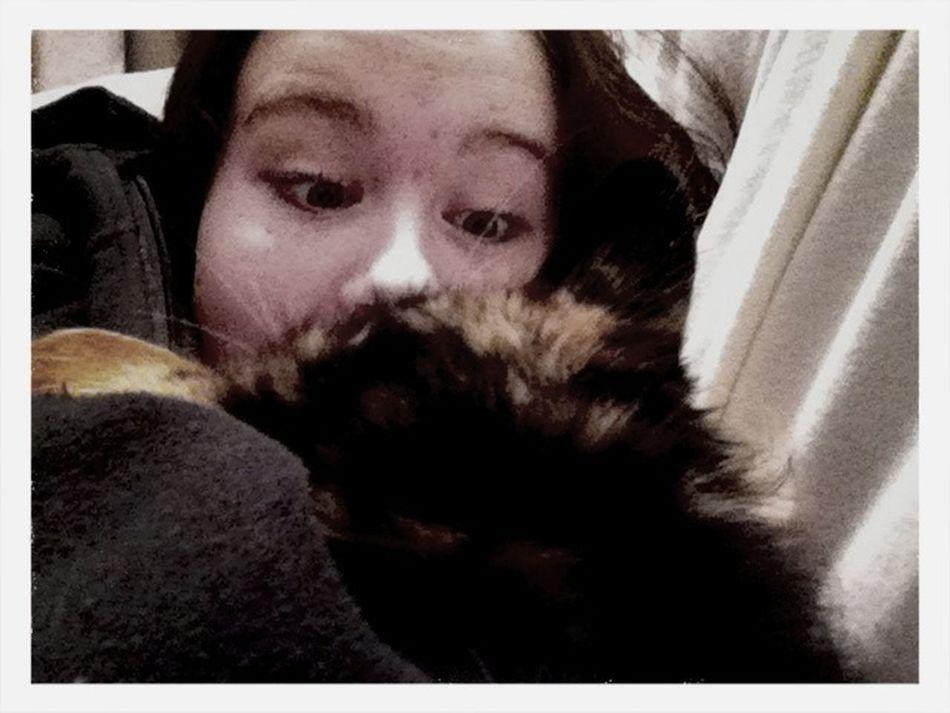 Cuddling With My Kitty