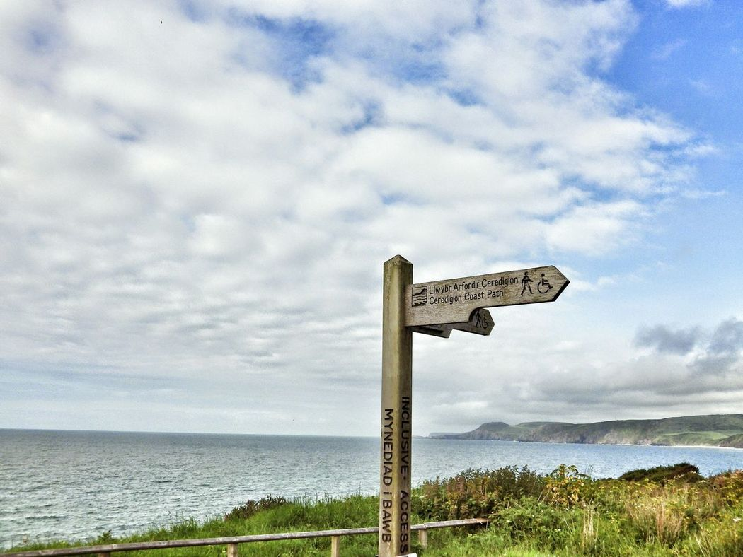 Wales Photography Taking Photos Check This Out Sea Seascape Coast Coastline Signs Clouds And Sky