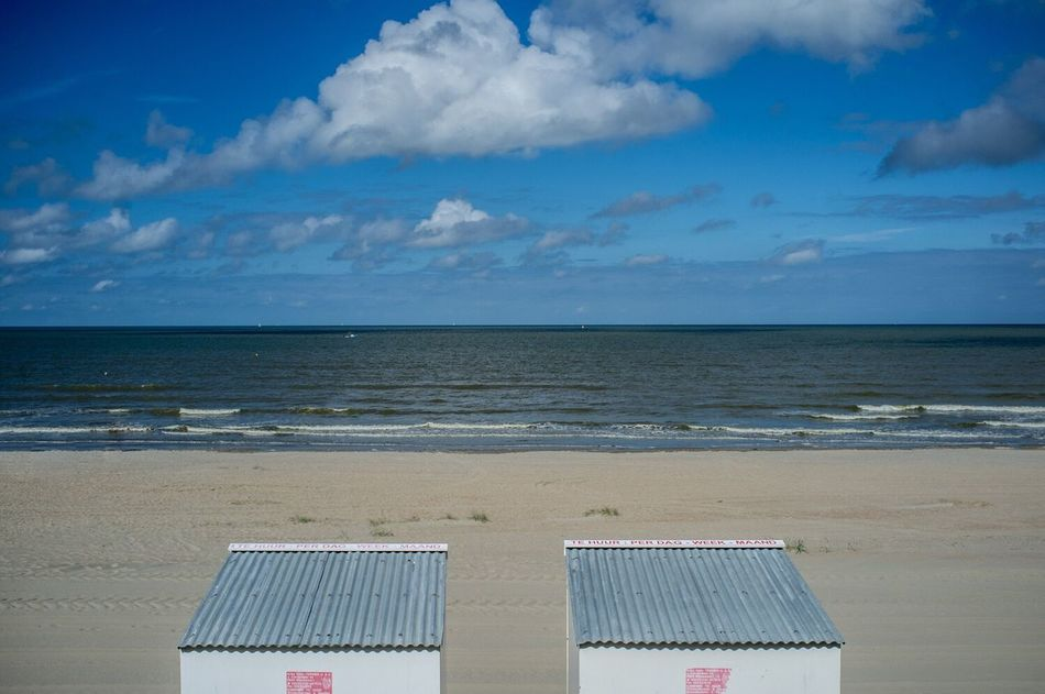 Belgian coast Sea Beach Horizon Over Water Sand Water Sky Scenics Nature Tranquility Cloud - Sky Beauty In Nature Shore Tranquil Scene Day No People Outdoors