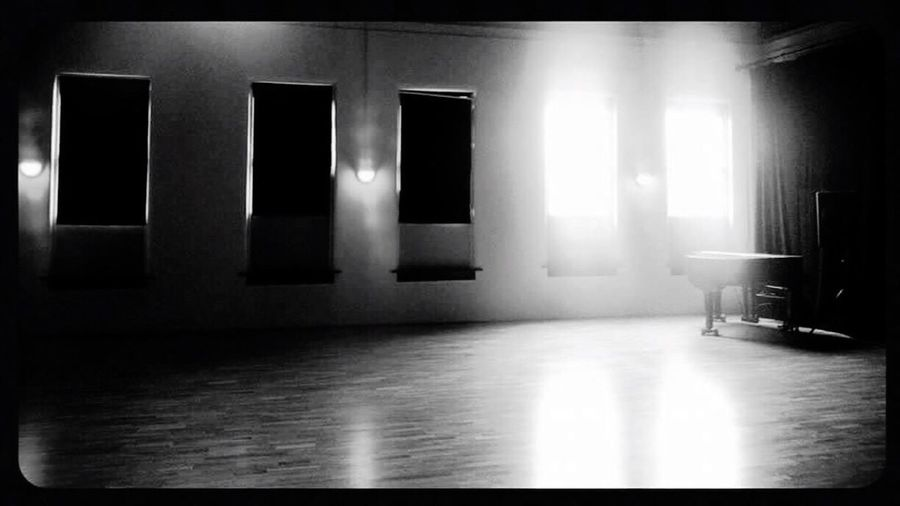 Indoors  No People Illuminated Architecture Day Ballet Room Ballett Light And Shadow Piano Piano Moments Blackandwhite Blackandwhite Photography