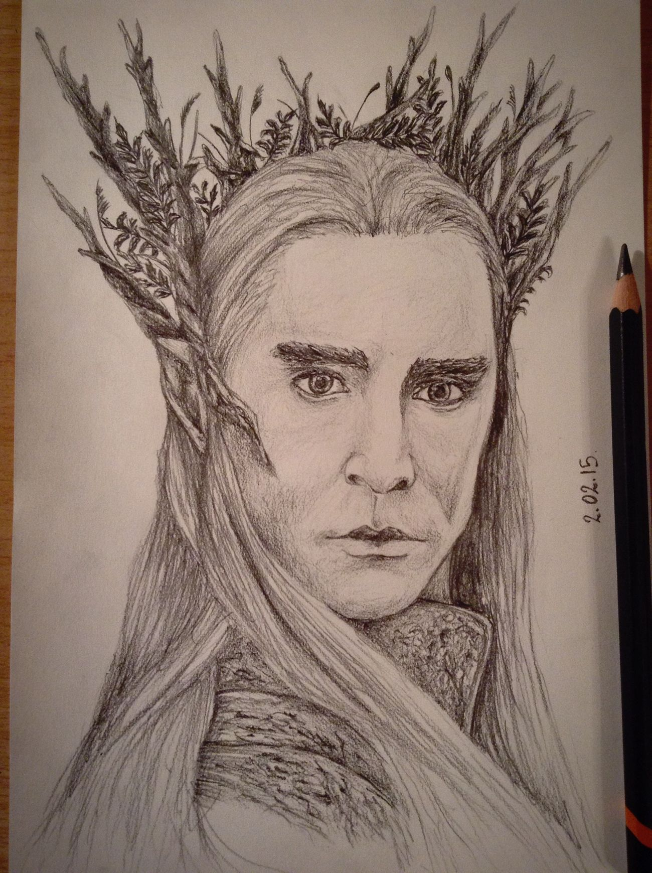 ?Yeah! It's my Thranduil?✏️ Drawing Pencil Drawing Hobbit Art Fanart Thranduil  Exciting, Portrait Cute King