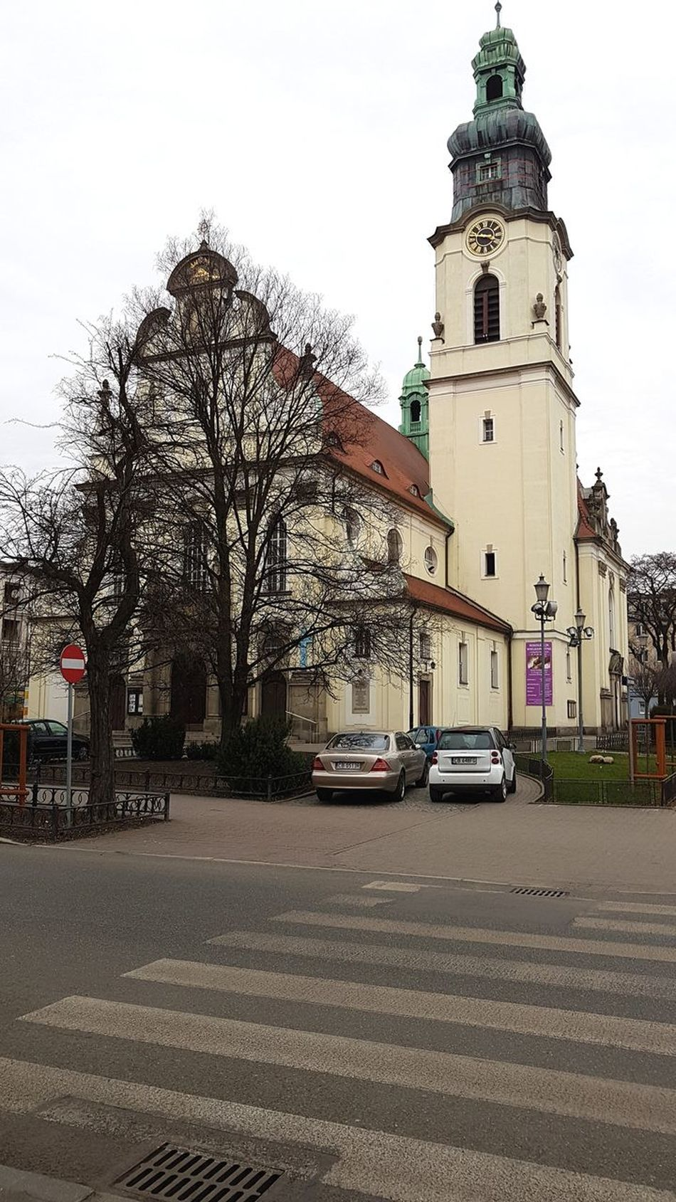 Poland Bydgoszcz Church Building Exterior Tower Outdoors Architecture Day Sky Built Structure Religion Polandarchitecture Street Clock