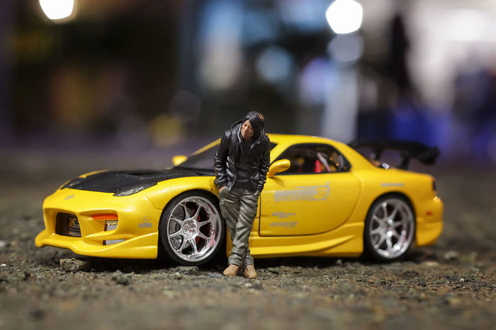 FastAndFurious7 Toys Car City Fastandfurious Illuminated Land Vehicle Mode Of Transport Night One Person Outdoors People Real People Street Taxi Toy Toy Car Transportation Yellow Yellow Taxi