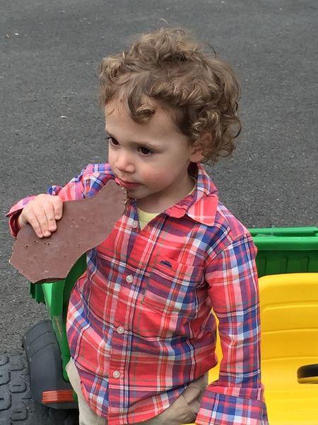 Baby Joey enjoying alittle chocolate 😂 Happyeaster ItsAllAboutTheKids LaFamilia Enjoying Life LaDolceVita