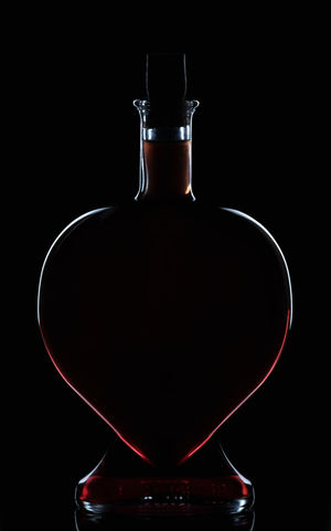 Edge of the heart Love Black Background Bottles Collection Close-up Colored Water Haert Indoors  Ligth And Shadow No People Product Photography Simple Beauty Studio Photography Studio Shot