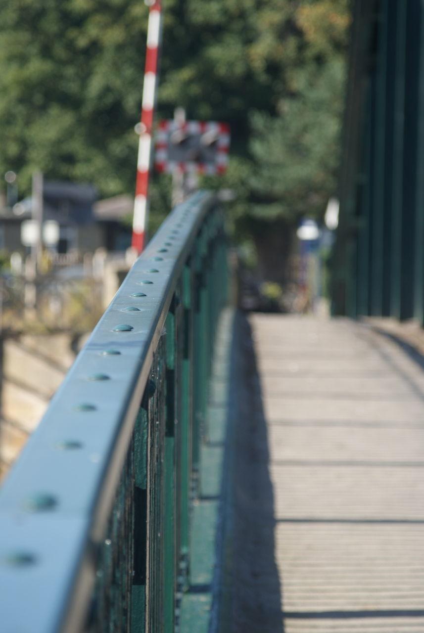 Close-Up Of Footbridge Railing