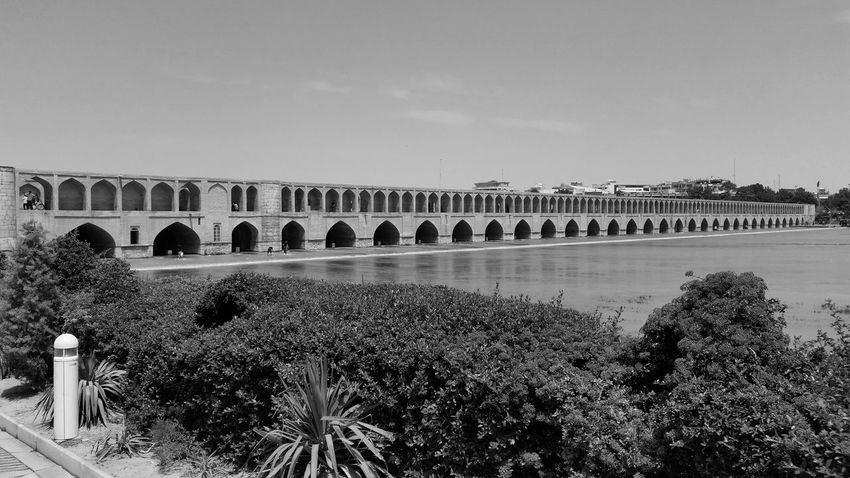 Architecture Attraktion Blackandwhite Historical Sights Historische Plätze Iran Isfahan Monochrome Schwarzweiß Siosepol Siosepolbridge Tourist Attraction