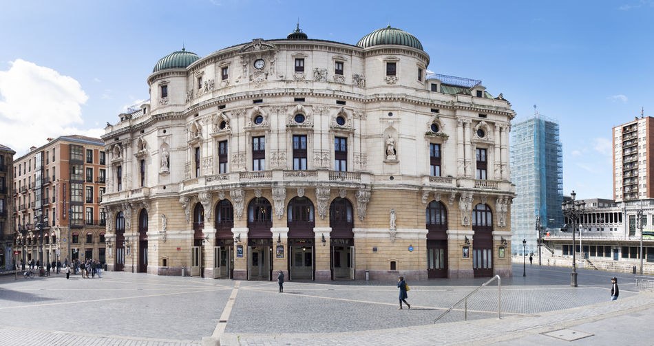 Architecture Arriaga Arts Culture And Entertainment Basque Country Bilbao Bizkaia Building Exterior Built Structure City Cityscape Cultures Day Euskadi Outdoors Panorama Panoramic Teatro Theater Tourism Travel Destinations Vizcaya
