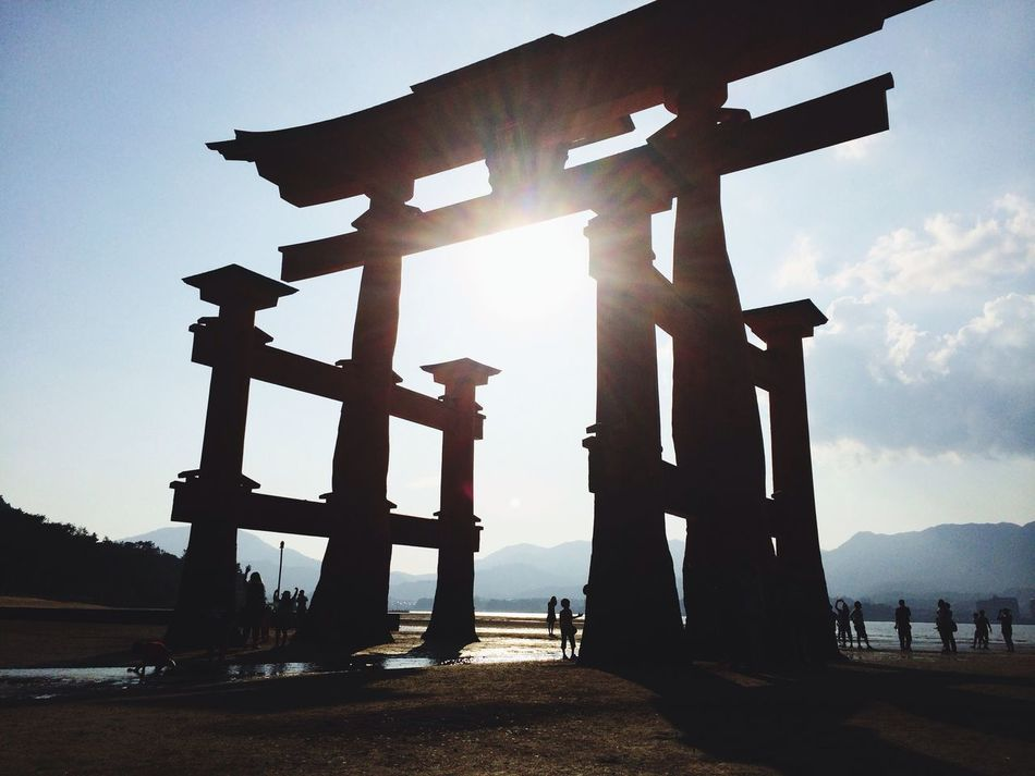 From My Point Of View Beautiful 厳島神社(Itsukushima Shrine) At 厳島神社 大鳥居 (O-torii Gate)