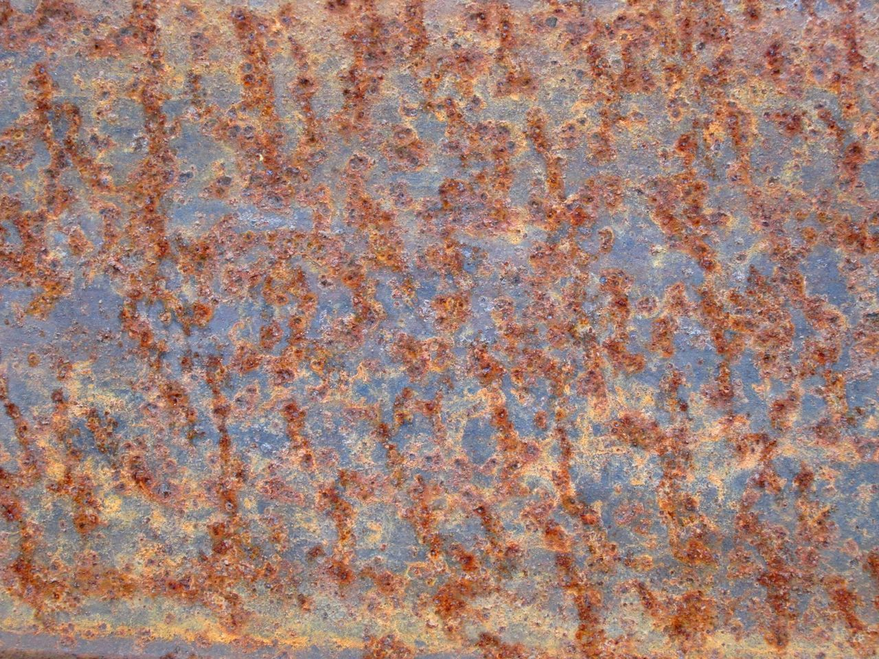 Rusty Metal Textures And Surfaces Background ArchiTexture Blue Brown Orange Grungy Textures Weathered Metal Flat Punctured Perforated Punched Closeupshot Iron Texture