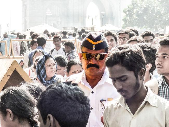 Dabangg Police Crowd Focus Front View Headshot India Gate Men Mumbai Meri Jaan Person Portrait Traffic Police