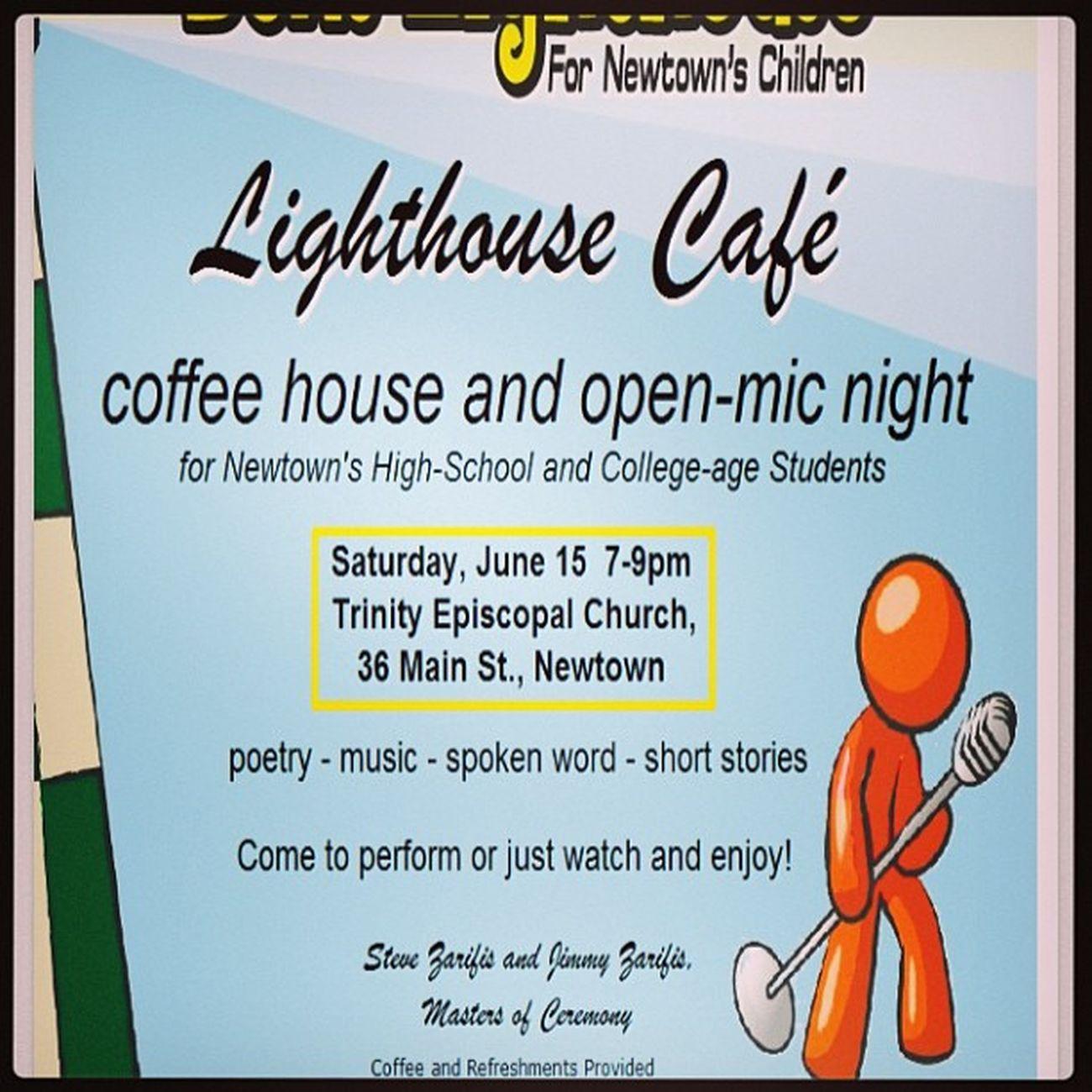 Benslighthouse Newtownschildren Sandyhook SUPPORT doitforben come cafe coffee trinityepisicopalchurch openmic night mastersofceremony mc @jimbosports and @steviefresco thezarifisbros