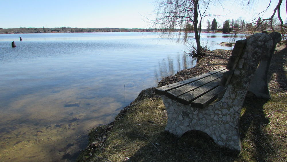 At The Lake Tranquility Beautiful Day Please Join Me In A Seat Nice Angle Ice Melted Quiet Moments Lake Cadillac Pure Michigan