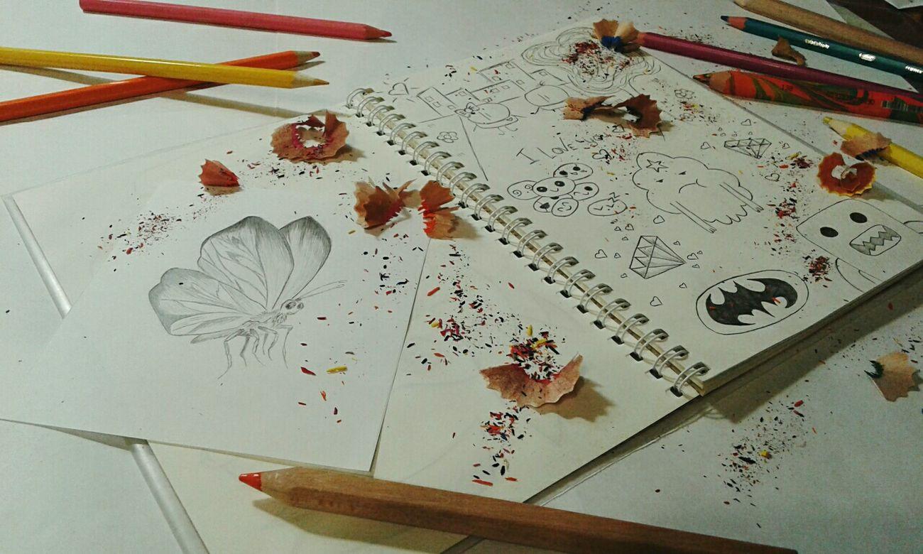 Desks From Above Hello World ✌ My Works My Draw ♥