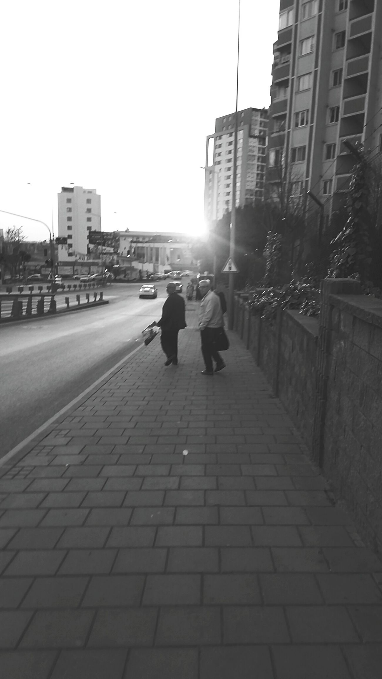Günbatımı Yollarda Insanlar Istanbul City