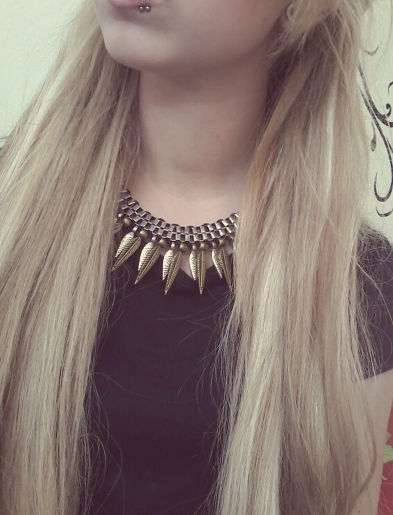 Girl Long Hair, Don't Care. Love My Necklace Stunning ;* ♥