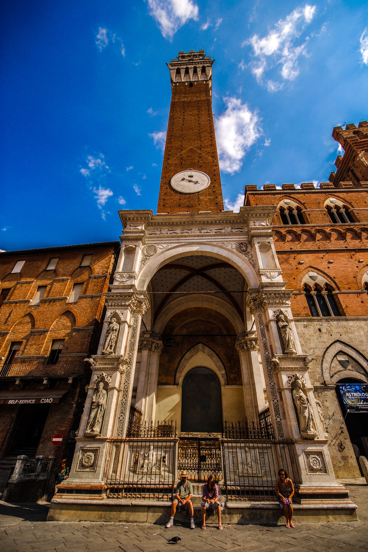 Torre del Mangia, Siena, Italy Arch Architecture Building Exterior Built Structure City Cloud Clouds Colours Day EyeEm Gallery History Medieval Medieval Architecture Medieval Town Outdoors Palazzo Comunale Piazza Del Campo Sky Tower Travel Destinations