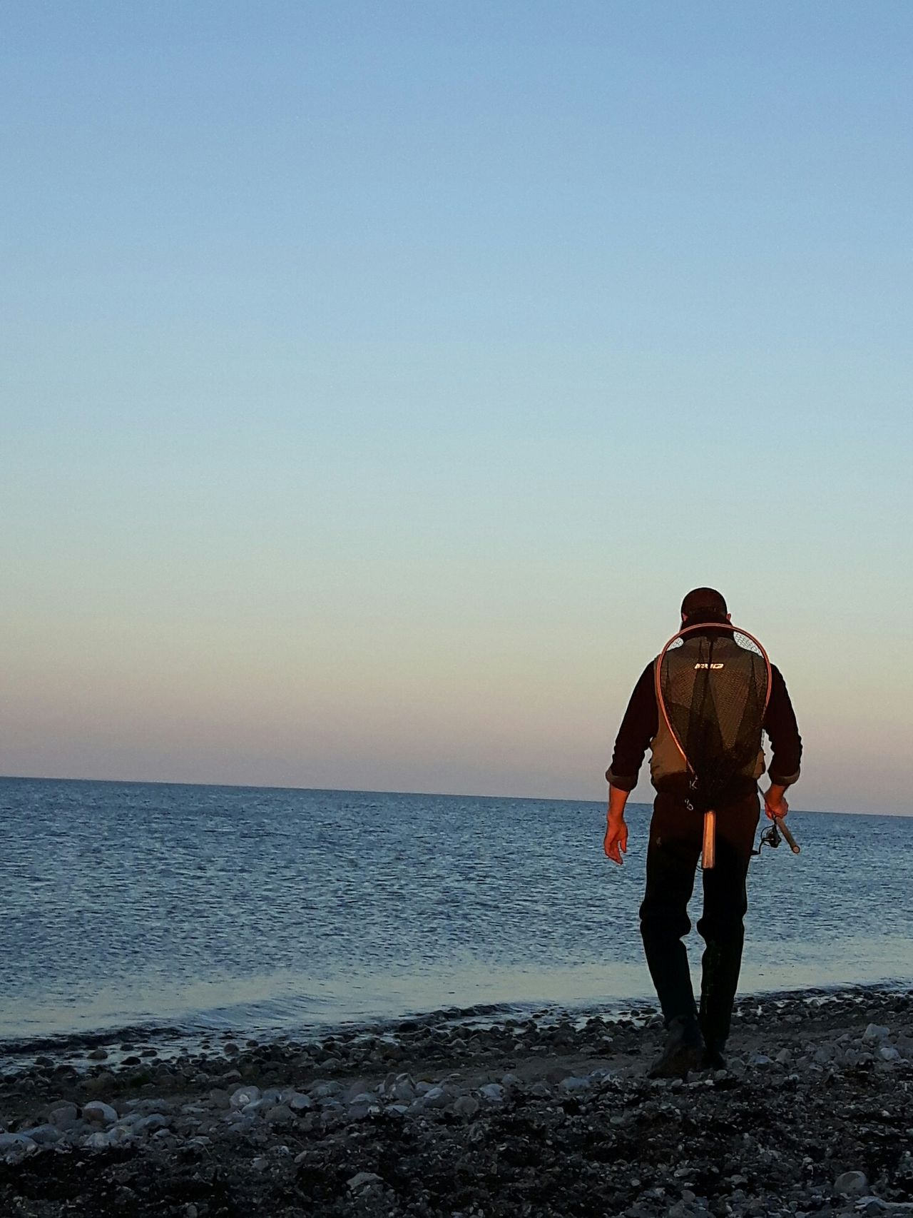 Gone fishing Beach Sea Adult Horizon Over Water Adults Only Clear Sky Full Length Sky Men People Sand Love Bonding Nature Beauty In Nature Outdoors Sunset Scenics Gone Fishing Fisherman Fehmarn Baltic Sea